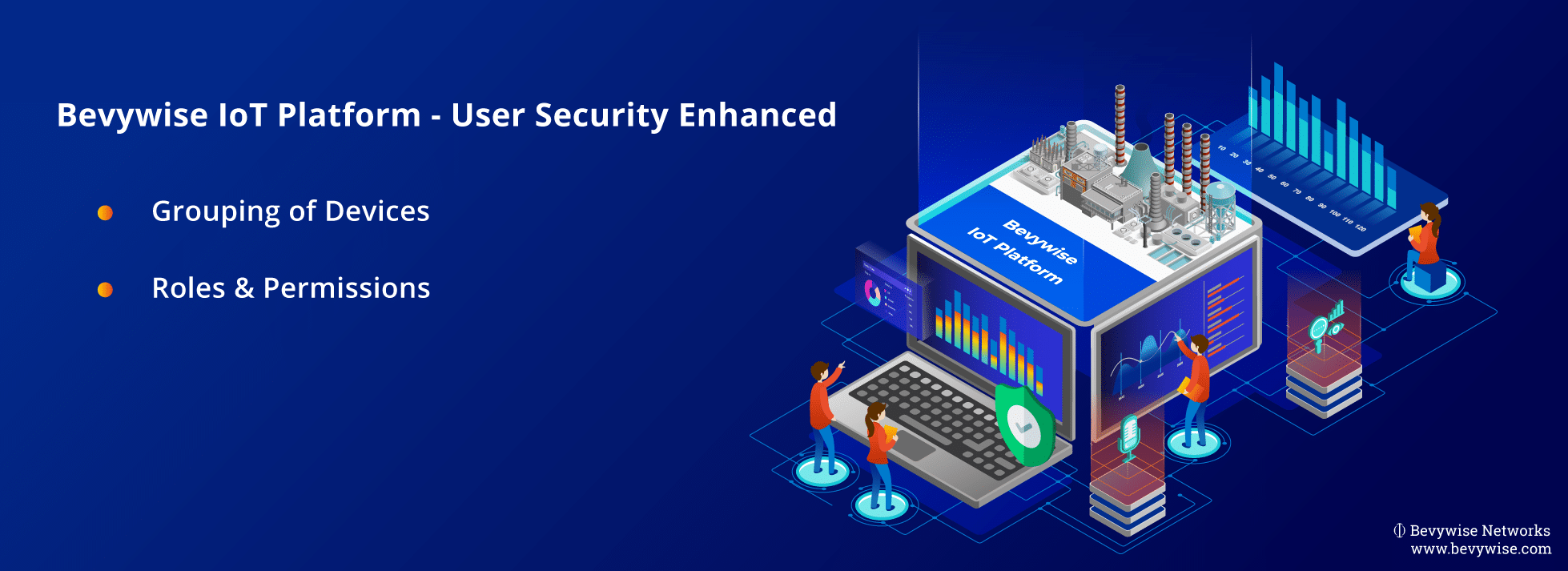 IoT platform enhanced with user security permissions