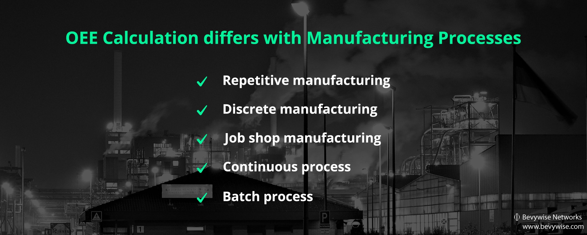 OEE calculation differs with manufacturing process