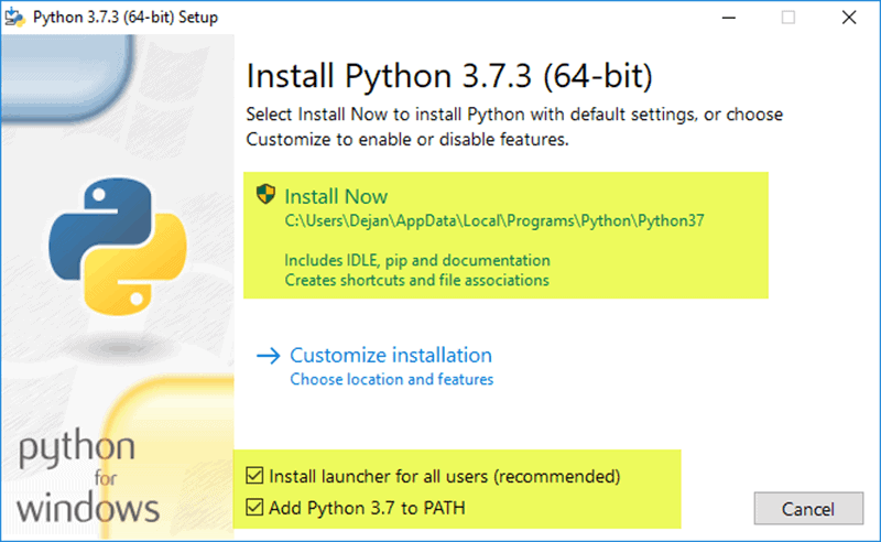 Python set up