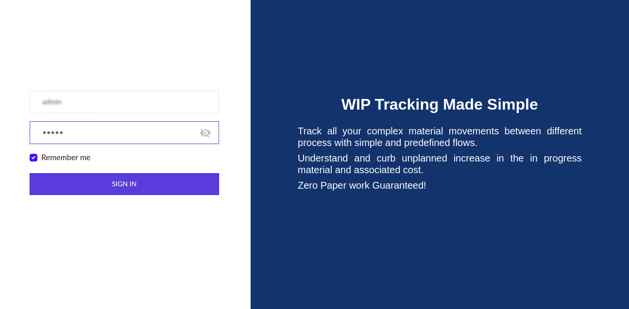 sign-up with WIP manager